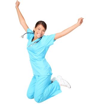 nurse-jumping